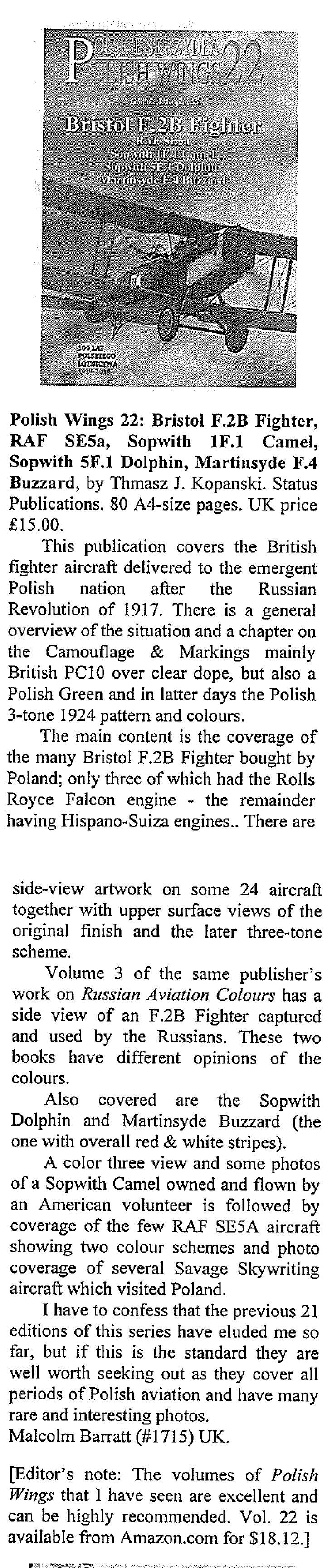 Small Air Forces Observer January 2018 2 PW 22